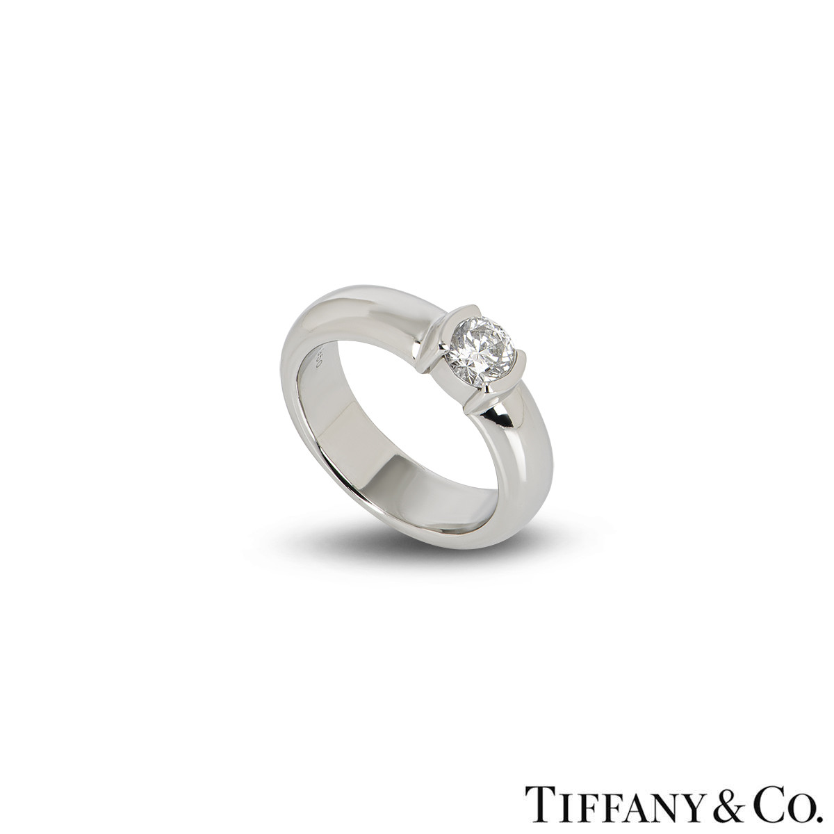 Tiffany & Co. Diamond Etoile Platinum Ring 0.50ct F/VS1